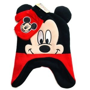 Disney Mickey Mouse beanie and gloves